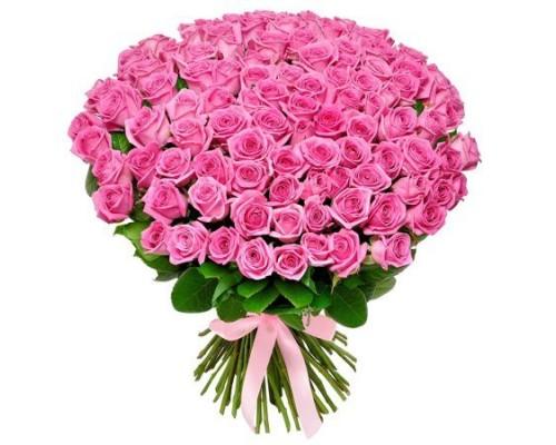 Роза розовая 101шт.