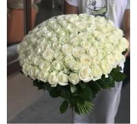 Роза белая 101шт.