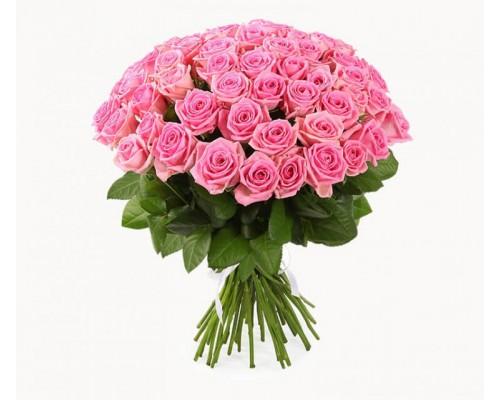 Роза розовая 51см.