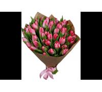 Тюльпаны розовые 51шт.