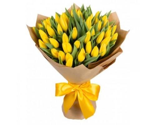 Тюльпаны желтые 51шт.